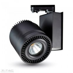 33W LED fekete sínes lámpatest CRI>95 6400K 2 év garancia - 1235 - V-TAC