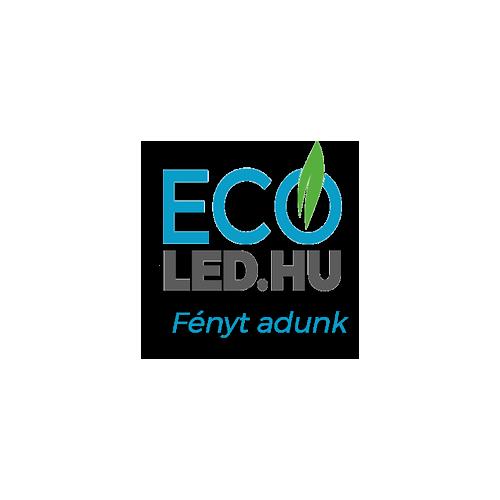 8W LED Mennyezeti lámpatest ovális fekete IP65 6400K - 1268