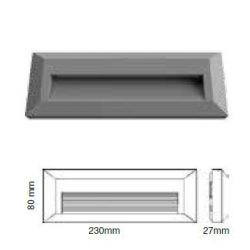 3W Felületre szerelhető LED lépcsővilágítás IP65 3000K - 1331