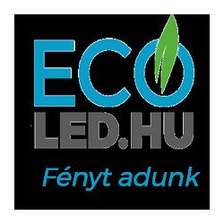 10W LED  Reflektor Fekete 6400K V-TAC