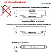 V-TAC LED fénycső 120 cm 18W  3000K nano plastic