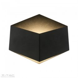 3W Beltéri hatszög fekete fali lámpa Bridgelux chip 4000K - 8347