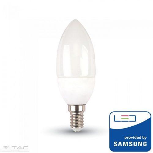 7W LED izzó Samsung chip E14 Gyertya 6400K 5 év garancia - PRO113