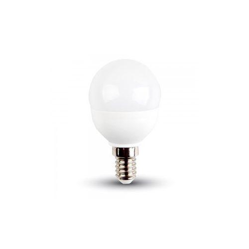 5,5W V-TAC PRO LED izzó E14 kisgömb 3000K meleg fehér 5 év garancia