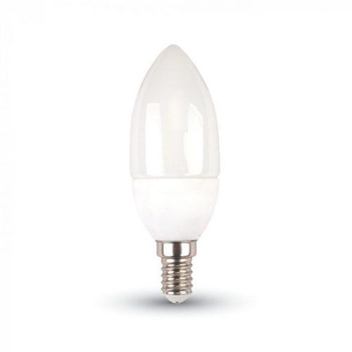 5,5W V-TAC PRO LED izzó E14 gyertya 3000K meleg fehér 5 év garancia