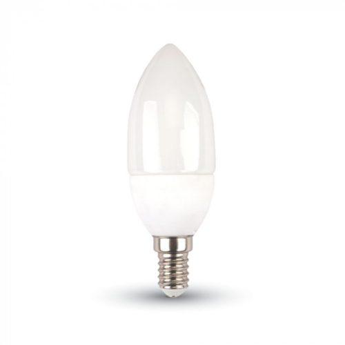 5,5W V-TAC PRO LED izzó E14 gyertya 6400K hideg fehér 5 év garancia