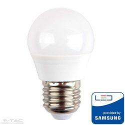 4,5W LED izzó Samsung chip E27 G45 6400K A++ 5 év garancia - PRO263