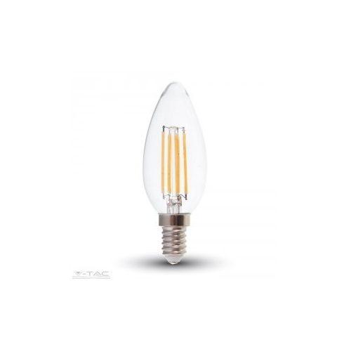 4W Retro LED izzó Samsung chip E14 gyertya Meleg fehér - PRO272