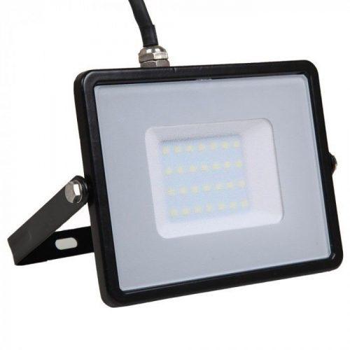30W LED reflektor Samsung Chip Fekete 6400K V-TAC