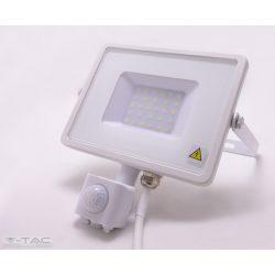30W Mozgásérzékelős LED reflektor Samsung chip fehér IP65 4000K - PRO458 - V-TAC