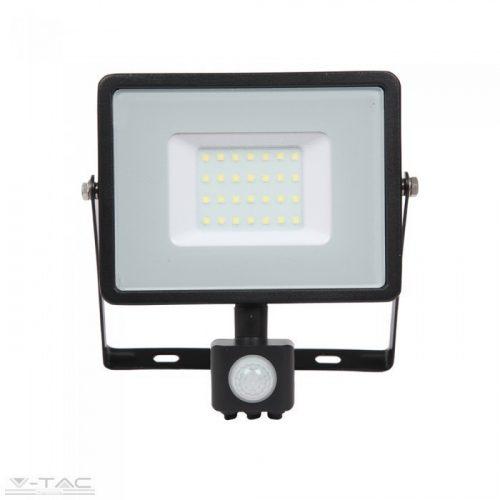 30W Mozgásérzékelős LED reflektor fekete IP65 4000K - PRO461