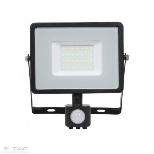 30W Mozgásérzékelős LED reflektor fekete IP65 6400K - PRO462