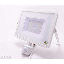 50W Mozgásérzékelős LED reflektor Samsung chip fehér IP65 3000K - PRO466 - V-TAC