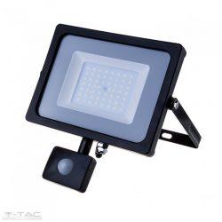50W Mozgásérzékelős LED reflektor fekete IP65 4000K - PRO470